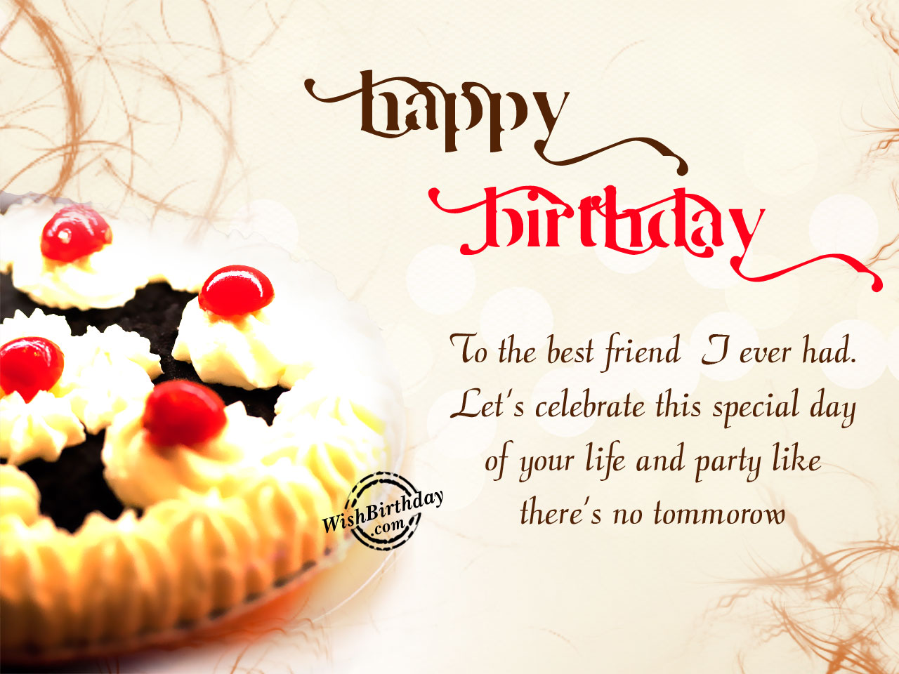 live laugh love happy birthday my dear friend
