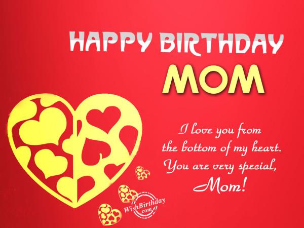 I Love You MOm, Happy Birthday
