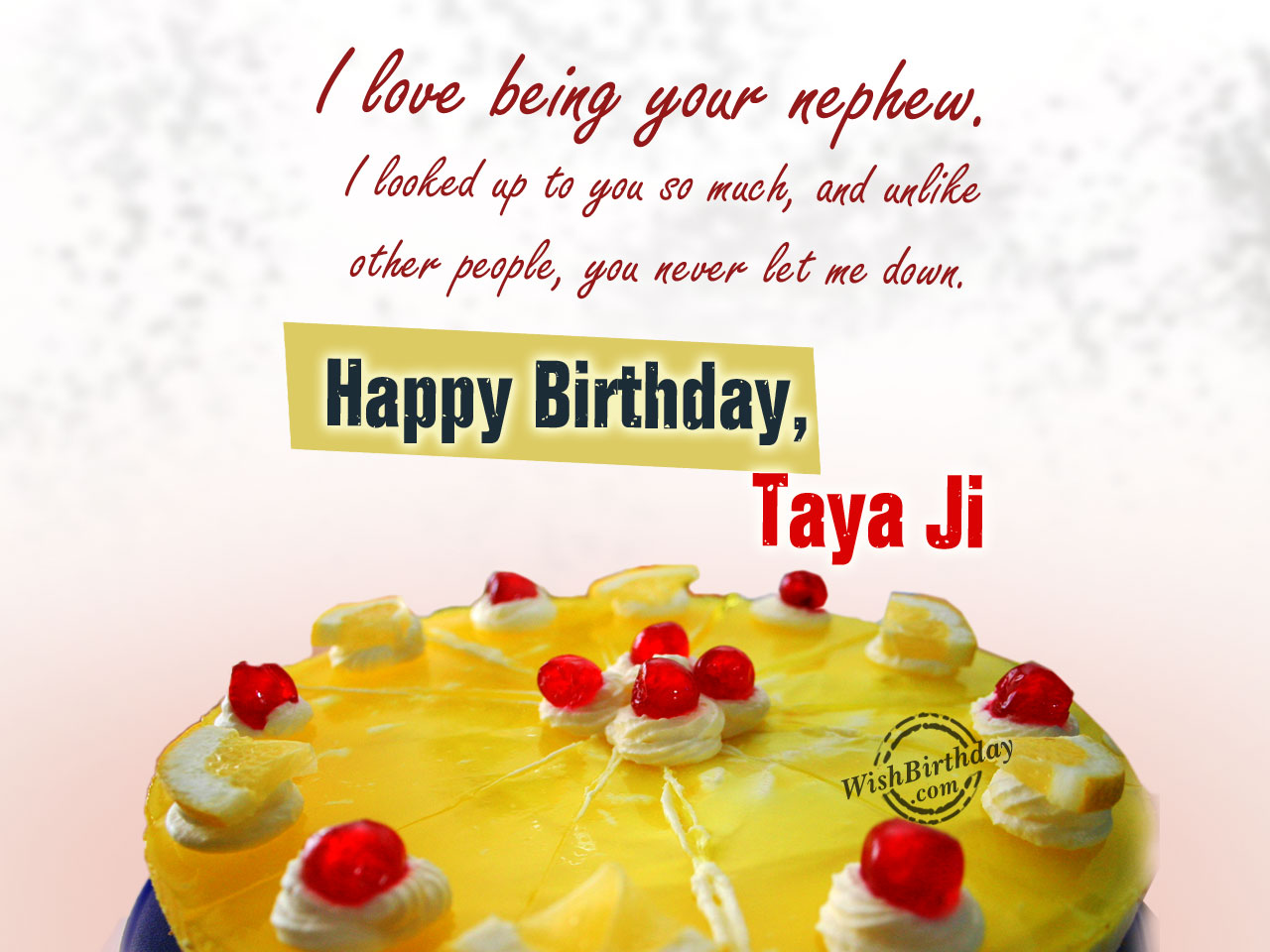 I love you taya ji, Happy birthday - WishBirthday.com