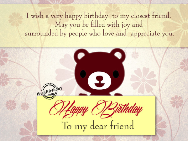 I wish a very happy birthday