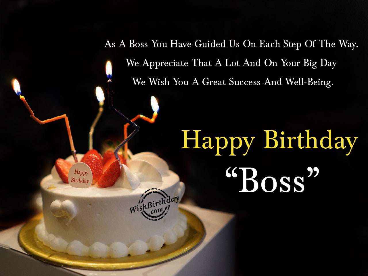 Birthday Cake Sayings For Boss