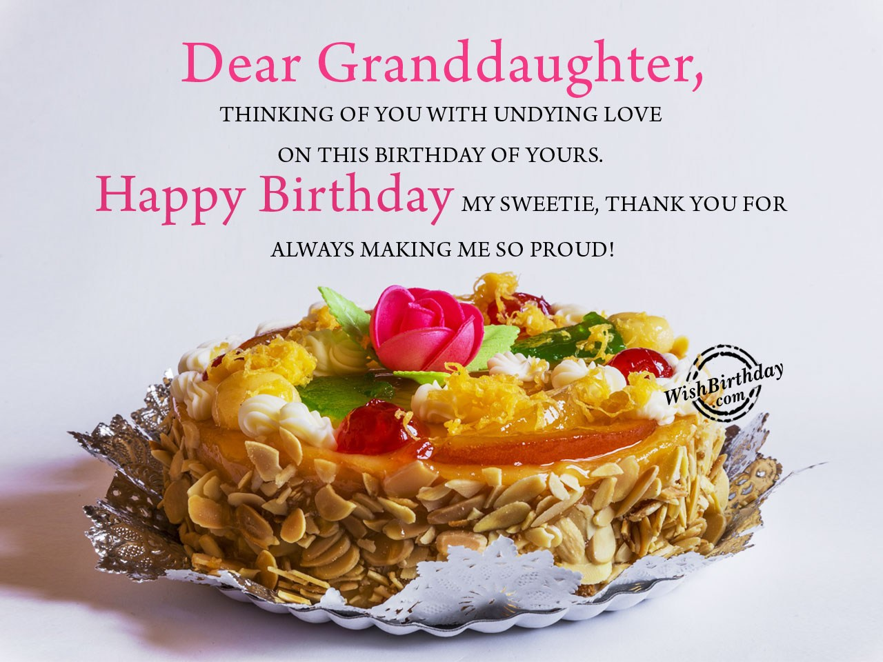 Dear Granddaughter Happy Birthday