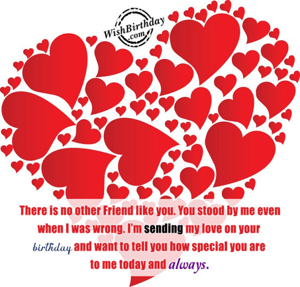 I Am Sending My Love On Your Birthday