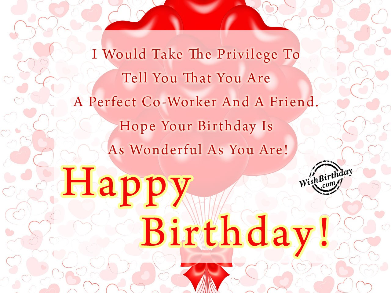 Birthday Wishes For Colleague - Birthday Images, Pictures