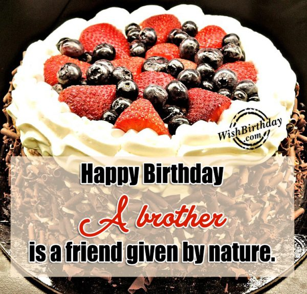 A Brother Is A Freind Given By Nature - Happy Birthday-wb401