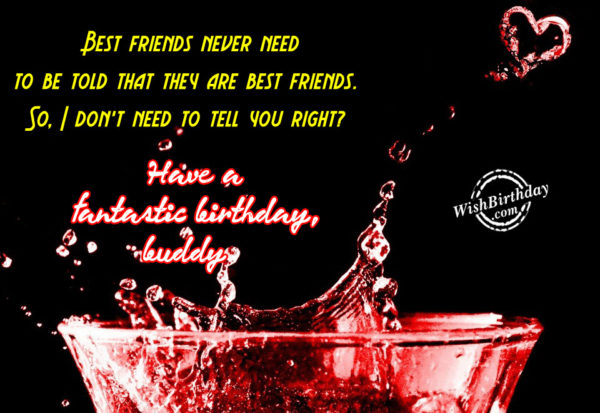 Best Friends Never Need To Be Told That They Are The Best - WishBirthday.com