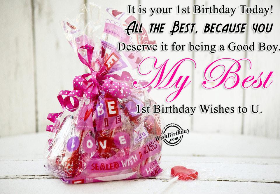 First Birthday Wishes To U