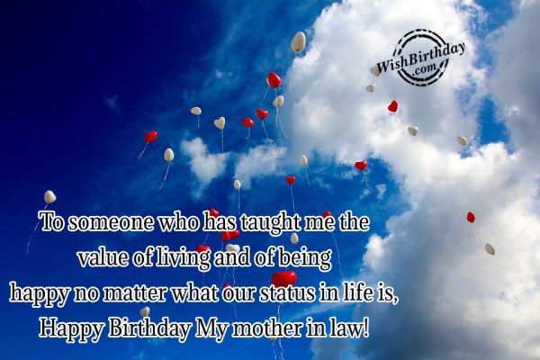 Happy Birthday My Mother In Law-wb41