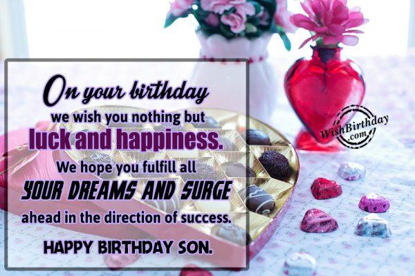 Happy Birthday Son-WB04
