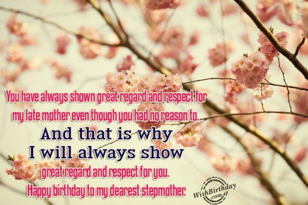 Happy Birthday To My Dearest Stepmother