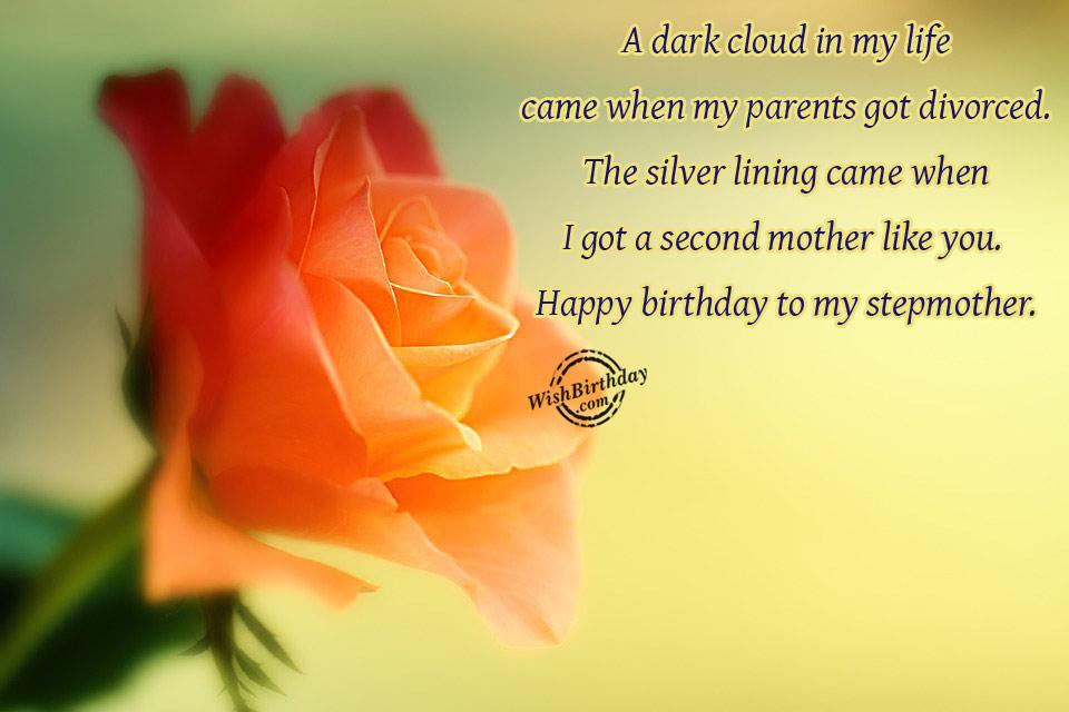 Happy Birthday To My Stepmother
