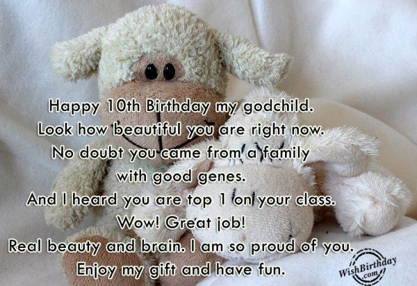 Happy Tenth Birthday My God Child