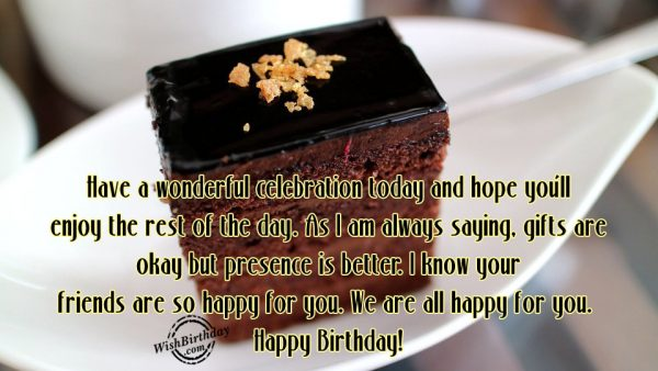 Have A Wonderful Celebration Today