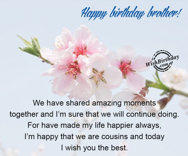 I Am Happy That We Are Cousins - WishBirthday.com