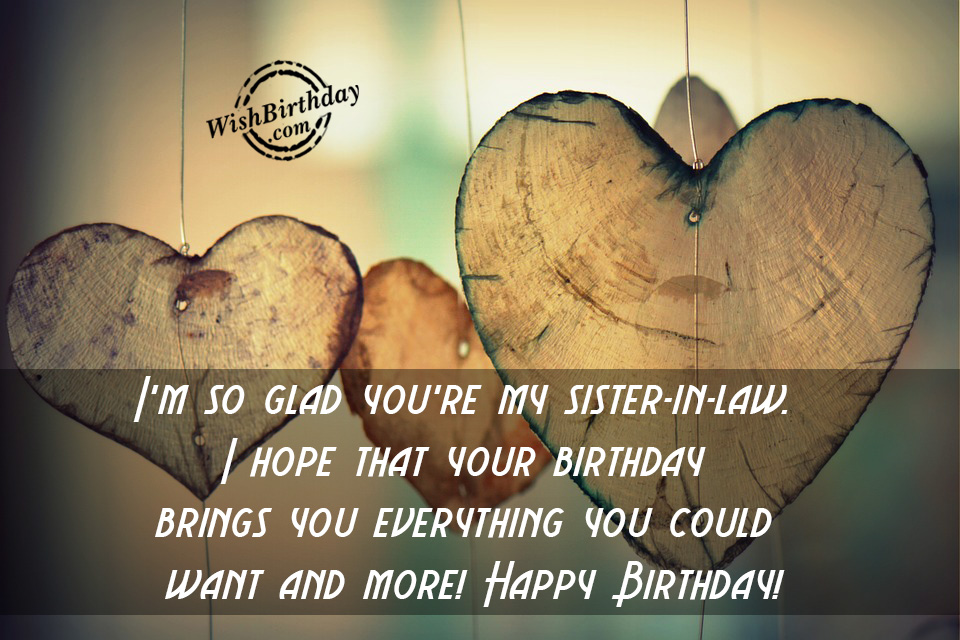 Birthday Wishes For Sister In Law Birthday Images Pictures – Sister in Law Birthday Card