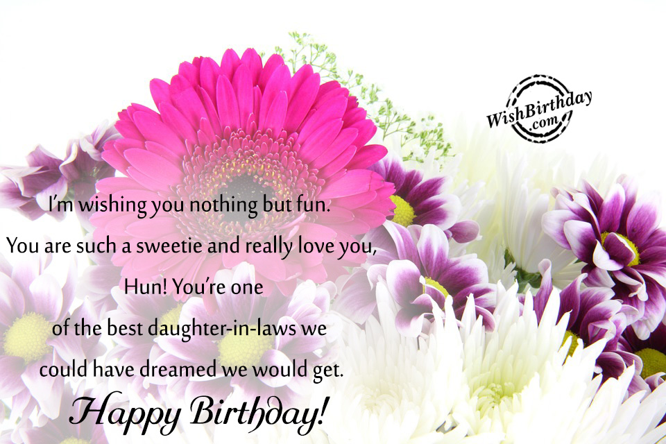 Birthday Wishes For Daughter In Law Birthday Images Pictures – Happy Birthday Daughter in Law Cards