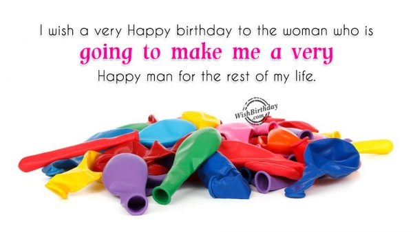 I Wish You A Very Happy Birthday To A Woman