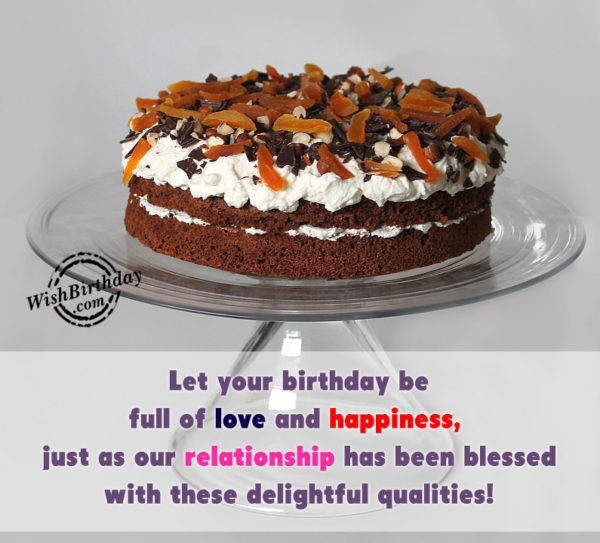 Let Your Birthday Be Full Of Love