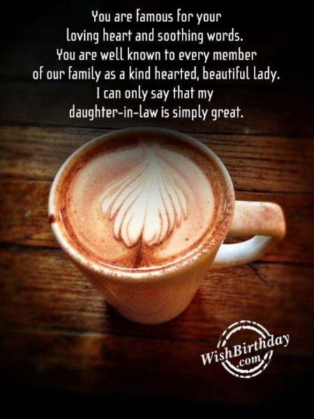 My Daughter In Law IS Simply Great – Happy Birthday - WishBirthday.com