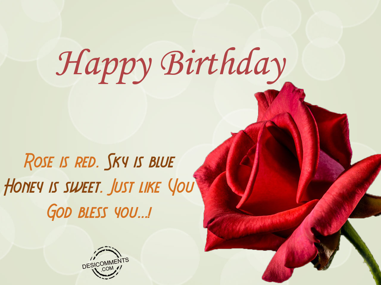 Birthday wishes for husband birthday images pictures rose is red sky is blue m4hsunfo