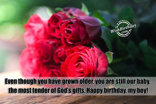 The Most Tender Of God's Gifts - Happy Birthday Boy-wb64