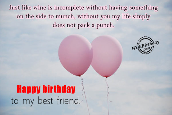 Without You My Life Simply Does Not Pack A Pinch - Happy Birthday