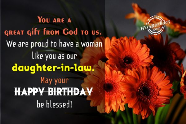 You Are A Great Gift From God To Us - WishBirthday.com