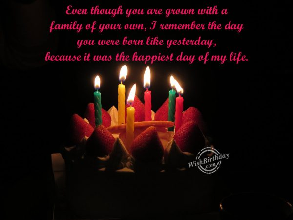 You Were Born Like Yesterday - WishBirthday.com