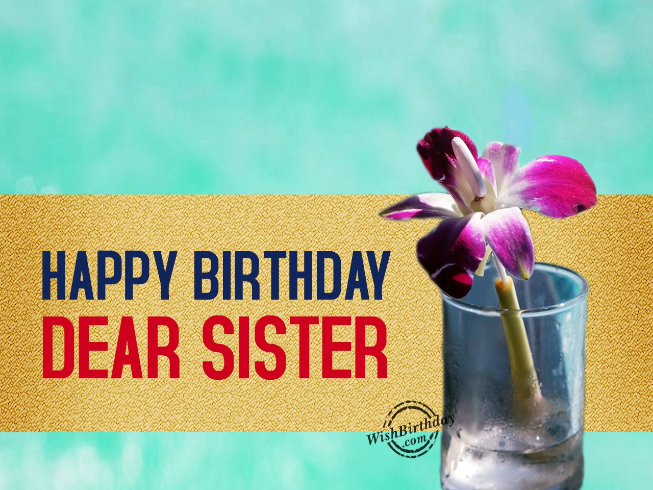 Happy Birthday Message Dear ~ Birthday wishes for sister images pictures