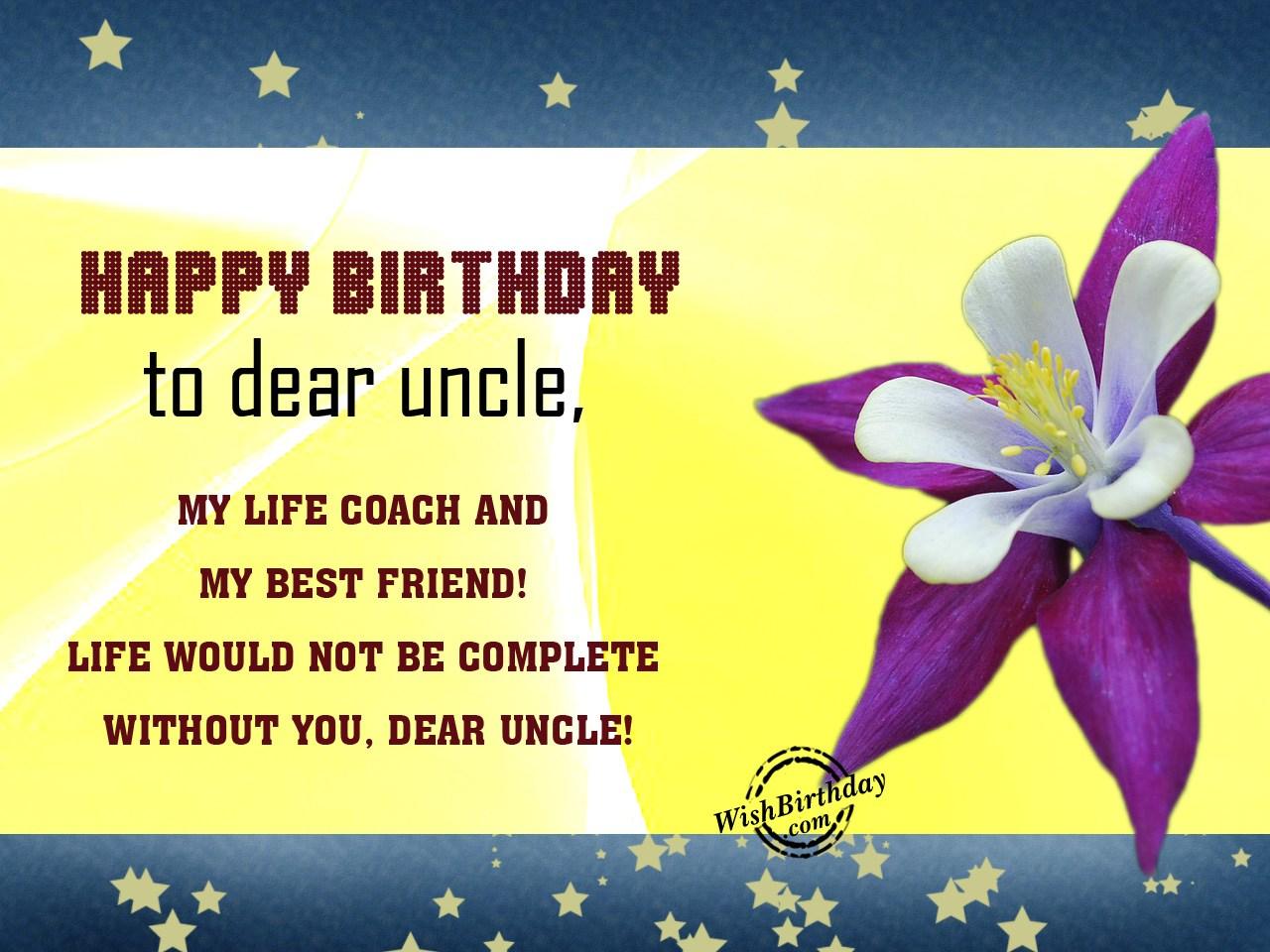 Happy Birthday To My Dear Uncle Wishbirthday Com
