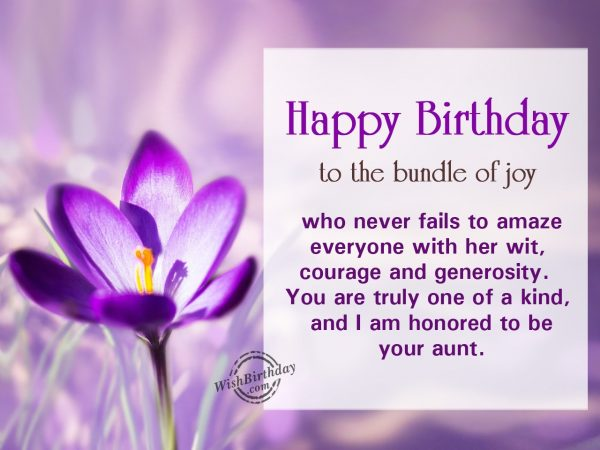 Happy birthday to the bundle of joy - WishBirthday.com