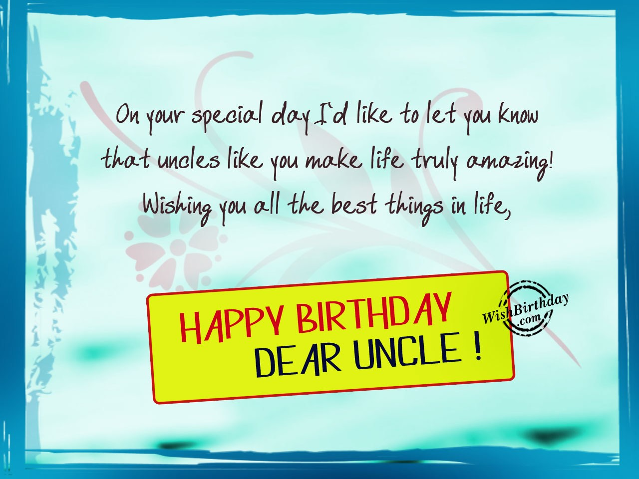 birthday wishes for uncle birthday images pictures