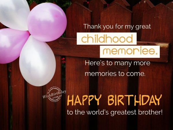 Thank you for my great childhood - WishBirthday.com