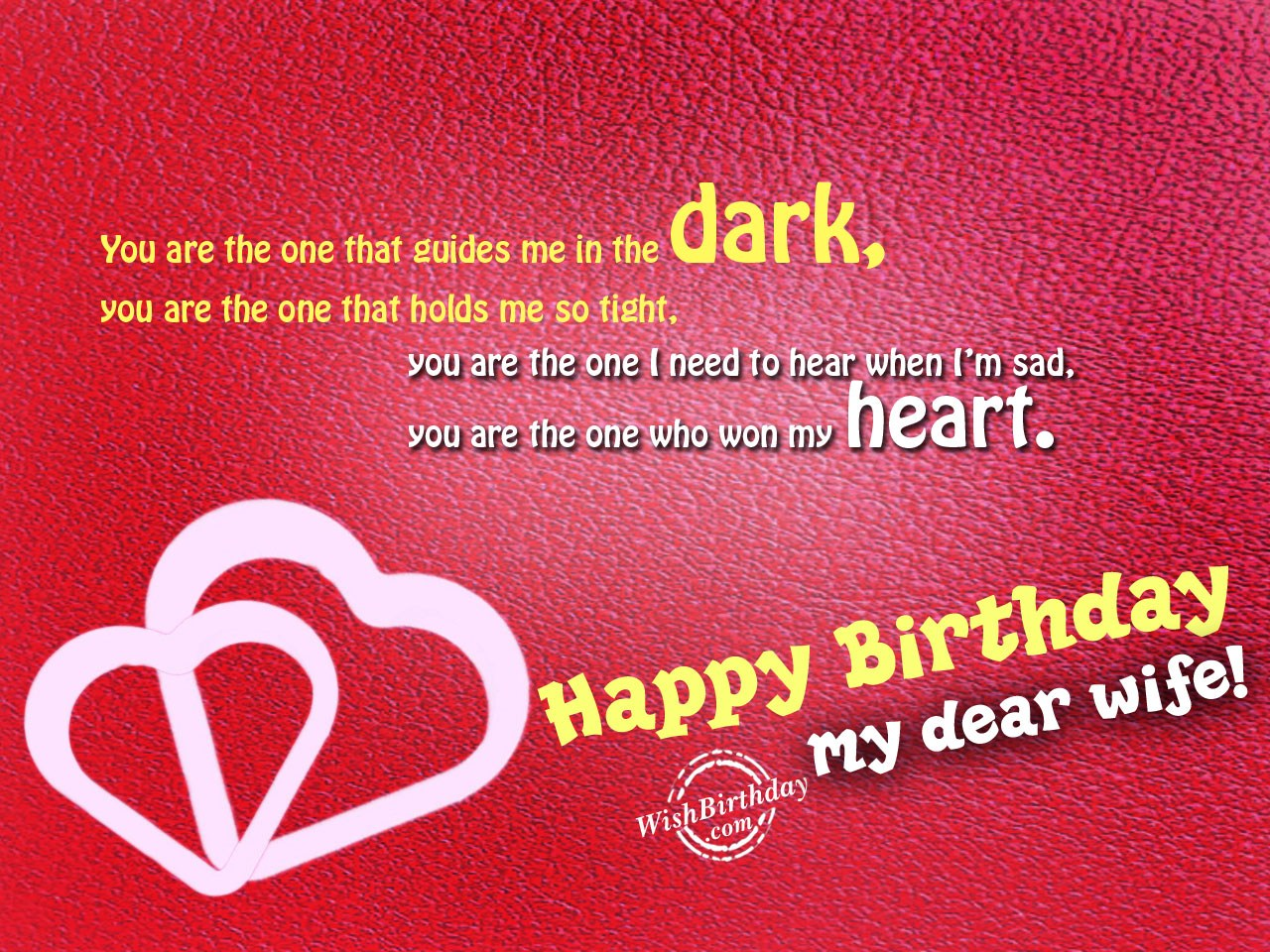 Happy Birthday Wishes To Wife ~ Birthday wishes for wife birthday images pictures