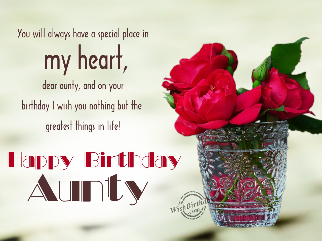 Birthday wishes for aunt birthday images pictures you will always have a special place in m4hsunfo