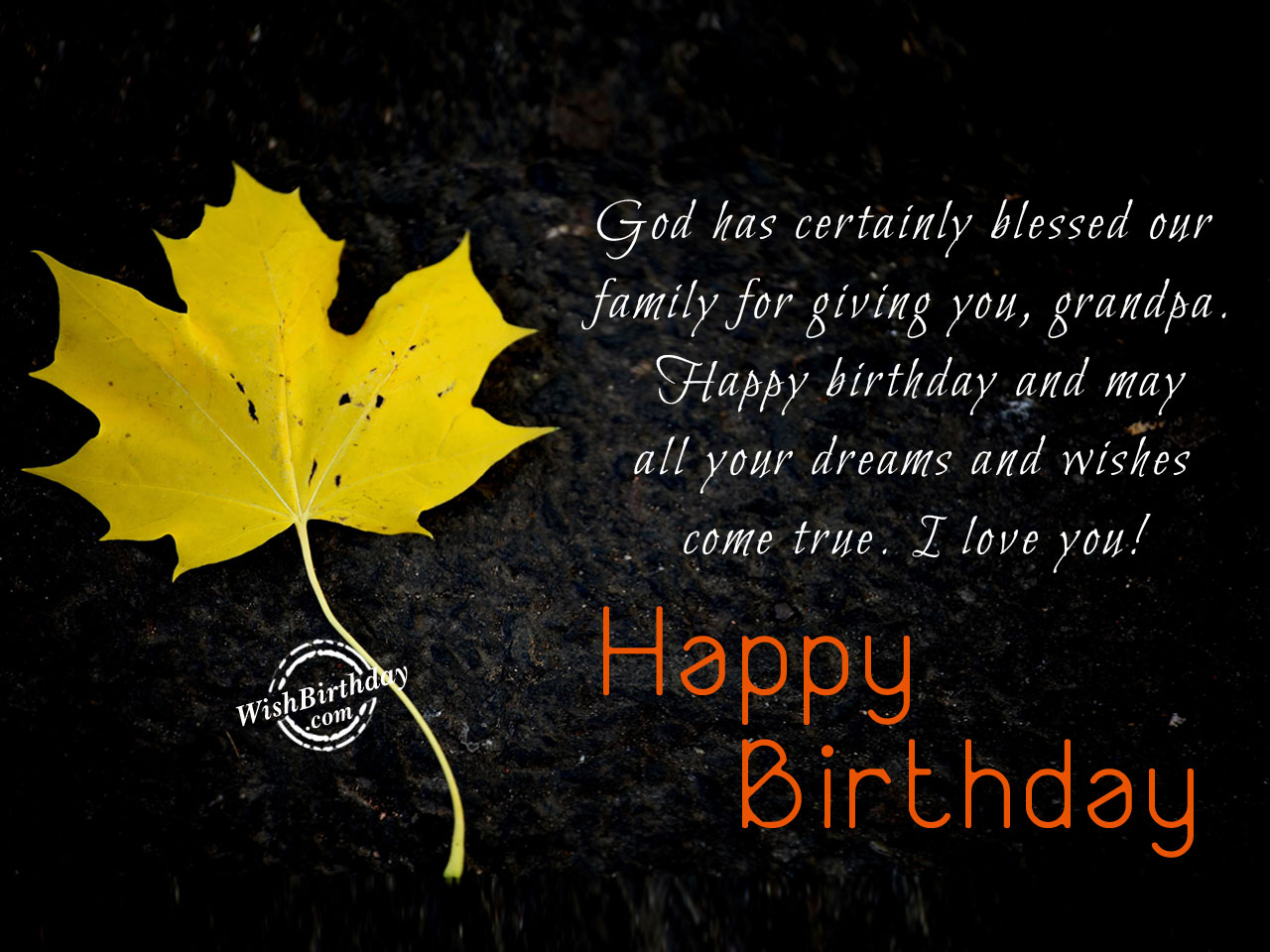 Birthday Wishes For Grandfather - Birthday Images, Pictures