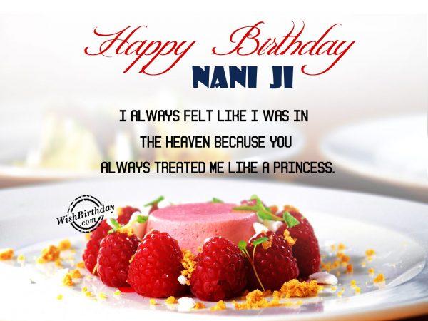 I always felt like heaven, Happy Birthday Nani Ji - WishBirthday.com