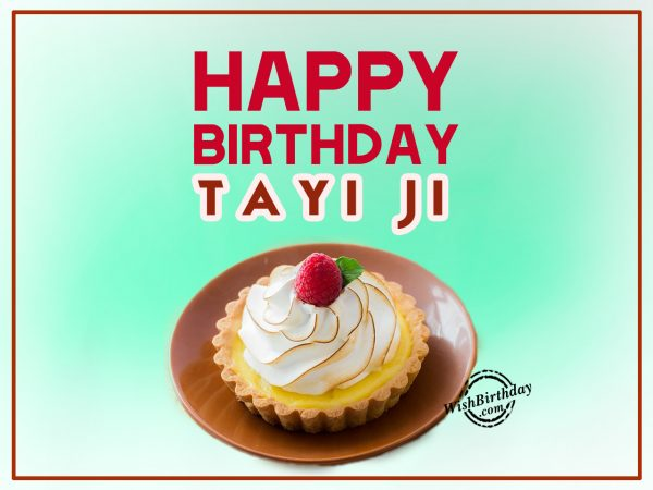 I feel so lucky to have wonderful tayi, Happy Birthday - WishBirthday.com