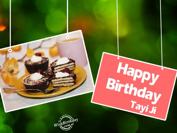 Happy Birthday Tayi Ji - WishBirthday.com