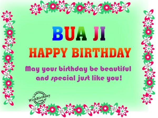 May your birthday be beautiful like you,Happy Birthday Bue Ji