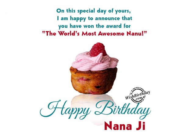 On this special day Happy Birthday Nanu