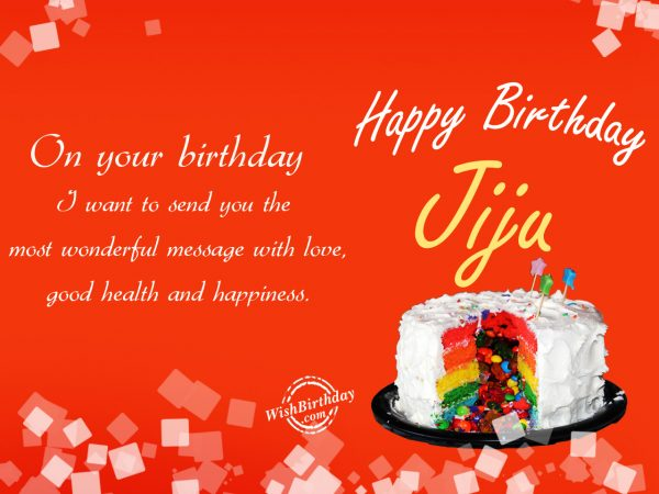 On your birthday,Happy Birthday Jiju