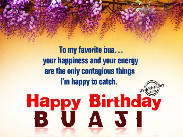 To my favorite bua ,Happy Birthday