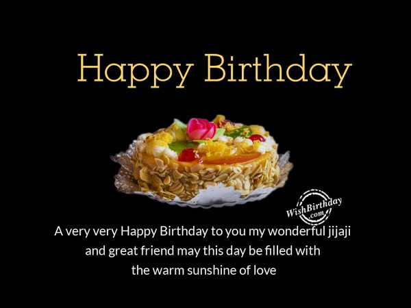 To the wonderful Jija Ji, Happy Birthday