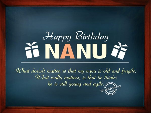 What does'nt matter,My nanu is old,Happy Birthday
